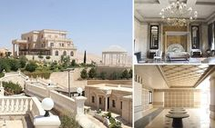Inside ISIS's luxury new headquarters: Jihadists set up base in spectacular Syrian mansion they claim to have seized from Qatari Royal Family