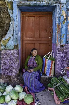 Woman selling banana leaves at Saturday market- Todos Santos , Guatemala Latin America, South America, Expo Milano 2015, Guatemala City, Guatemala Coffee, Central America, People Around The World, Colours, Beautiful
