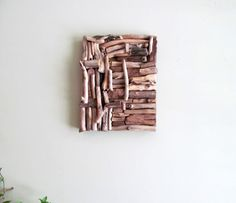 Mosaic Driftwood Wall Art, Beach Decor, Coastal Wall Art, Mixed Media Art, Driftwood Home Decor, Treasury Item