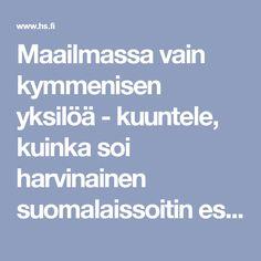 Maailmassa vain kymmenisen yksilöä - kuuntele, kuinka soi harvinainen suomalaissoitin esseharpa - Helsingin Sanomat