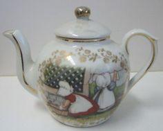 Royal Bayreuth Sunbonnet Babies Antique Toy Tea Pot Sug | eBay