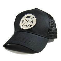 228a811ee87 Homeland Tees Pennsylvania Arrow Hat - All Black Trucker