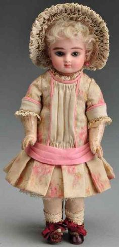 Steiner Jules Nicholas Dolls Bisque socket head doll, head incised ?S