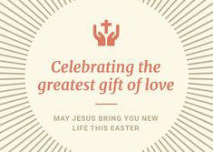 Customize the Sun Rays Gift of Love Easter Card template and make it match your brand!