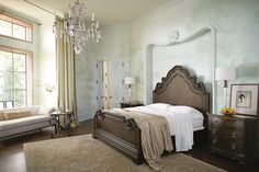 Italian-Style Panel Bed brings your room King Bedroom, Panel Bed, Master Closet, Italian Style, Mattress, Villa, Bedrooms, Group, Furniture