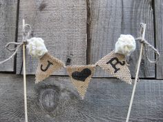 Hey, I found this really awesome Etsy listing at https://www.etsy.com/listing/151130152/monogrammed-burlap-cake-topper-bunting