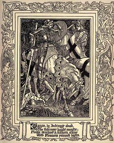Walter Crane 'The Faerie Queene, Book III' by Edmund Spenser