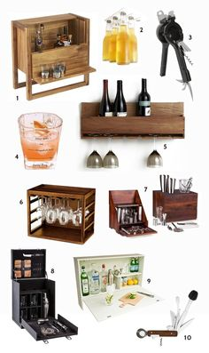 'Tis the season to entertain at home! Between Thanksgiving and the holidays, you're likely to see a few extra guests stop by your place. You can be ready to host them–with a cocktail in hand–even if you live in a teeny tiny apartment. Here are some tabletop and freestanding mini bars that give you a place to store and serve your holiday booze with big style.
