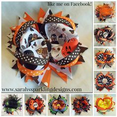 It's September!!!! Check out my fall themed hair bows for sale! www.sarahssparklingdesigns.com Custom requests accepted! LIKE ME ON FACEBOOK PLEASE! :)