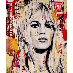 Brigitte Bardot Painting by Michiel Folkers ($1,390) ❤ liked on Polyvore featuring home, home decor, wall art, art, parisian wall art, paris wall art, paris france home decor, textured painting and paris home decor