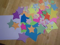 """wishing"" you the best of luck! (requested people to send in paper stars with a quick message or quote and then ship a whole bunch off in a package) --cute idea for christmas time or when they need a little encouragement"