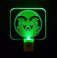 Personalized Colorado State University Rams Football Night Light, Personalize with a name put on a Helmet... www.etsy.com/listing/170213461