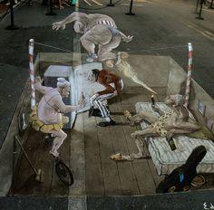 Image detail for -... 3d sidewalk art painting photos new amazing 3d sidewalk art painting