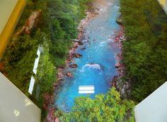 epoxidharz fluss natur 3d bodenbelag bad