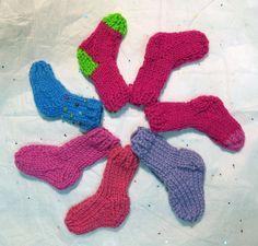 Miniature sock various colours mini Christmas stocking (one sock)