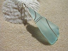 Sea Glass Pendant - small and simple