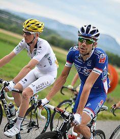 TdF 2014 - 15 : Un duel se confirme entre les Français Romain BARDET (AG2R) et Thibaut PINOT (FDJ.fr) pour le titre de meilleur jeune du Tour de France. © Presse Sports/B.Papon
