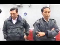 Jokowi Sedakep Kedinginan Saat Pantau Langsung Perairan Natuna