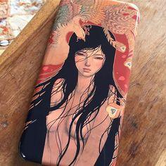 My beautiful new phone case 'Mizuki' by Audrey Kawasaki from @nuvango 💚💛❤️ #mizuki #audreykawasaki #audreykawasakiart #nuvangocover #nuvango #beautifulartwork