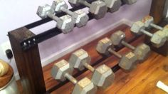 DIY-wooden dumbbell rack - Google Search