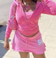 Pink Outfits, Cute Casual Outfits, Pretty Outfits, Cute Fashion, 90s Fashion, Fashion Outfits, Aesthetic Fashion, Aesthetic Clothes, Early 2000s Fashion