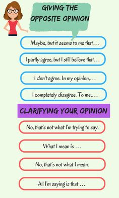 How to Express your Opinion in English 4/4: Giving the Opposite Opinion, Clarifying your Opinion