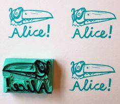 """a Stamp a Day: Voorbeeld """"een stempel voor alice!"""""""