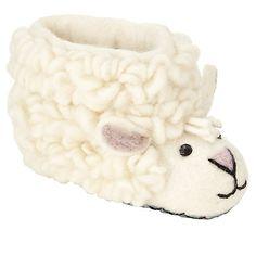 Buy Sew Heart Felt Simon Sheep Slippers, Cream Online at johnlewis.com