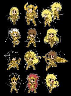 Me encantan los chibi caballeros del zodiaco