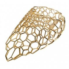 Zaha Hadid creates latticed gold  jewellery for Caspita