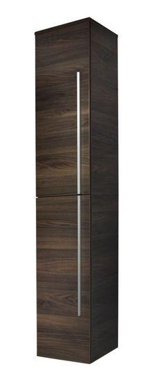 Badezimmer Hochschrank Weiss Hochglanz Woody 32-00074 Holz Modern - badezimmermöbel aus holz