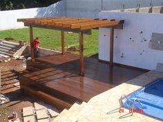 Pergolado e deck em madeira - MBS (41) 3653-0008