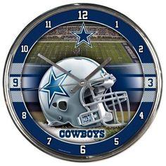 NFL Dallas Cowboys Chrome Clock