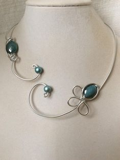 Your place to buy and sell all things handmade Blue Necklace, Birthstone Necklace, Bridal Necklace, Collar Necklace, Wire Jewelry, Jewelry Sets, Flower Jewelry, Jewlery, Handmade Jewelry