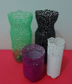 Recycling plastic bottles creative and clever with for Plastic bottle vase craft