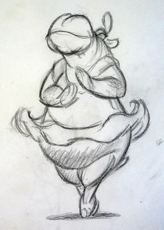 Lovely Hyacinth Hippo sketch by #PrestonBlair