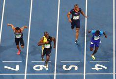 Schon wieder: Gold für Bolt - Der Jamaikaner triumphiert mit 9,81 Sekunden, sein Dauerrivale Justin Gatlin...