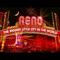 #Reno - The biggest little party! Only a short drive away from #LakeTahoe
