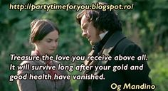 Party time: Treasure the love you receive above all. It will s...