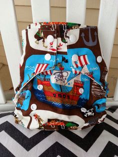Pirate Cloth Diaper by AnchorBlueBaby on Etsy