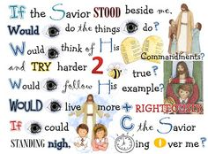 SINGING TIME IDEA: Oh Sing Sing Sing... We love to Sing: If The Savior Stood Beside Me..
