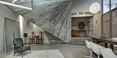 Awesome interior with concrete