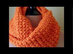 ▶ Orange || Crochet Infinity Scarf || Easy - YouTube