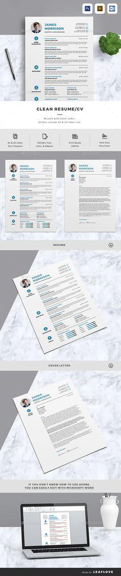 Resume Cv template, Resume cv and Creative cv template - resume layout template
