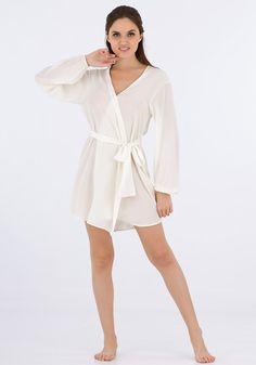 Silk women nightwear robes--d-white robes #Silk #robes   Revesilk.com