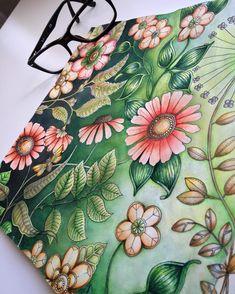Secret Garden Coloring Book, Coloring Book Art, Joanna Basford Secret Garden, Enchanted Forest Coloring Book, Johanna Basford Coloring Book, Coloring Pages Inspirational, Polychromos, Hippie Art, Color Pencil Art