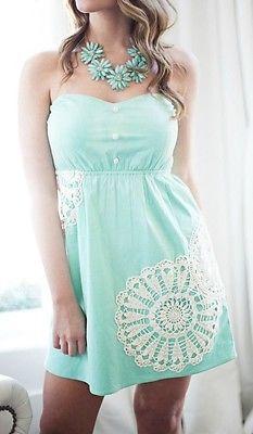 Judith March Mint Strapless Dress