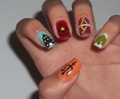 Percy Jackson nail art
