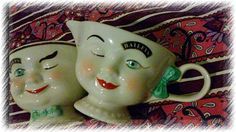 antique-baileys-cream-and-sugar winking boys Sweet 16 Party Favors, Sweet 16 Parties, Serendipity Restaurant, Valentine Day Gifts, Holiday Gifts, Kitchen Ware, Baptism Gifts, Selling Antiques, Antique Christmas