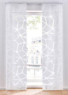 Panelová záclona, grafická (1 ks) biela • od 14.99 € • bonprix Decoration, Curtains, Room, Furniture, Home Decor, Style, Trendy Tree, House, Decor